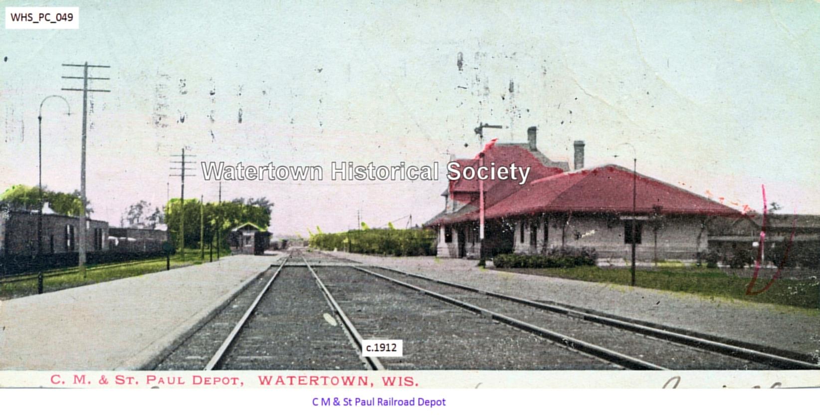 2a3c60967 C M & St Paul Railroad Depot ...